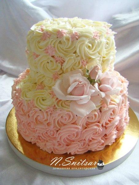 Двухъярусный торт своими руками без мастики