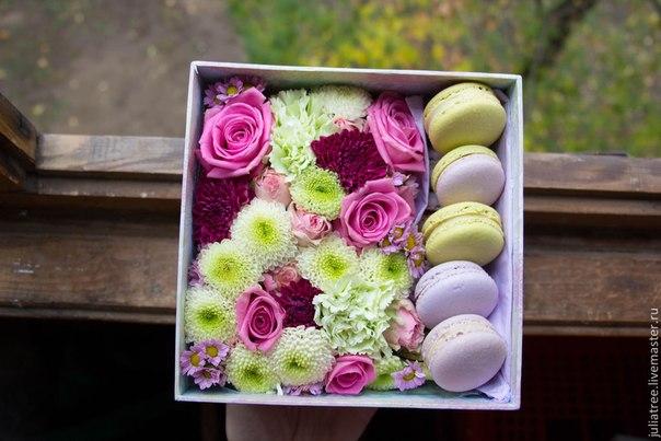 Цветы с макаронами в коробках как сделать