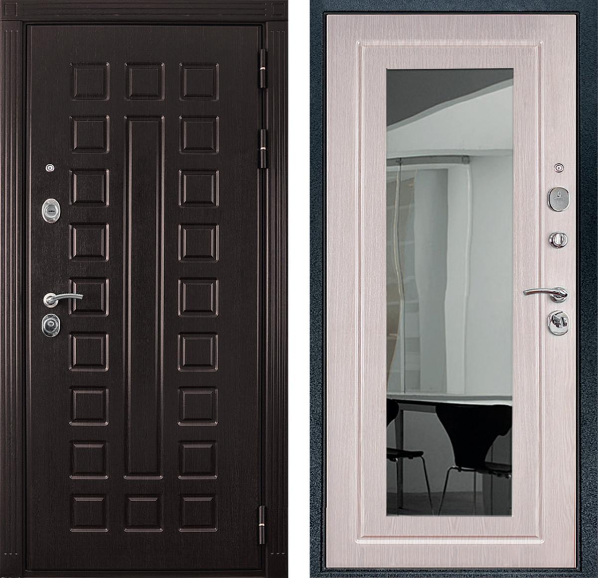 двери металлические зеркалом