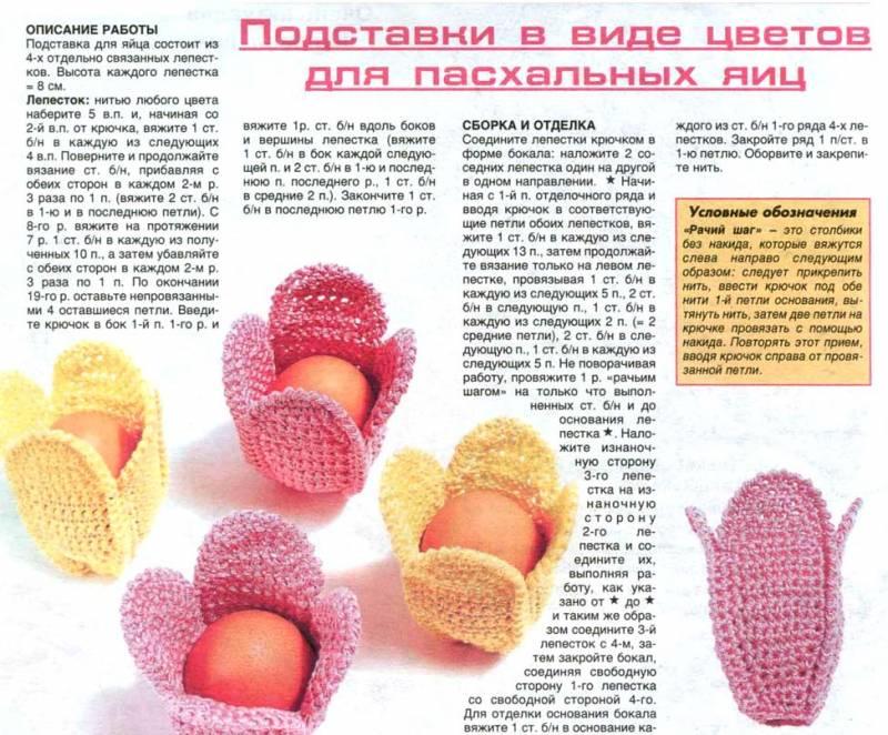 Вязание пасхальной корзинки с описанием 75