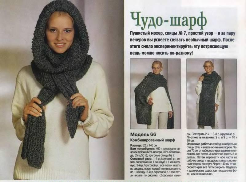 Как сделать из вязаного шарфа шапку - Gallery-Oskol.ru