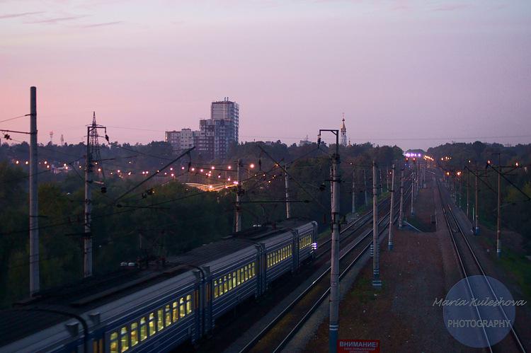 Вид на вечерний город