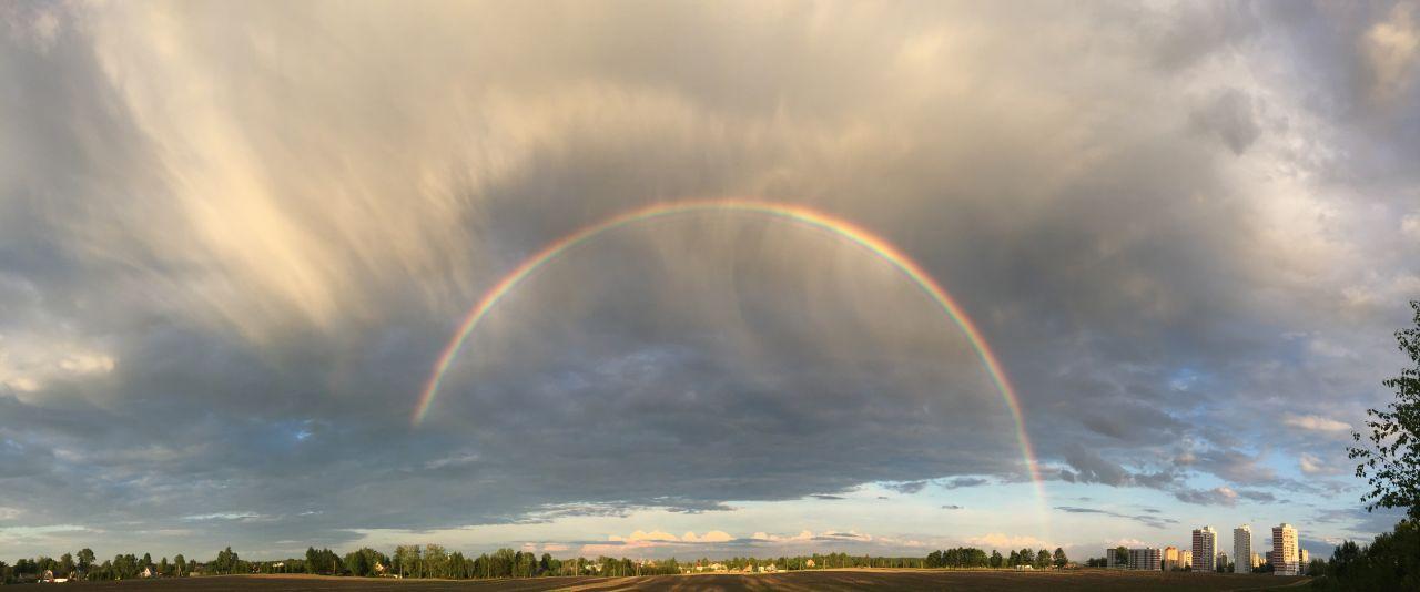 Мой вариант сегодняшней радуги.