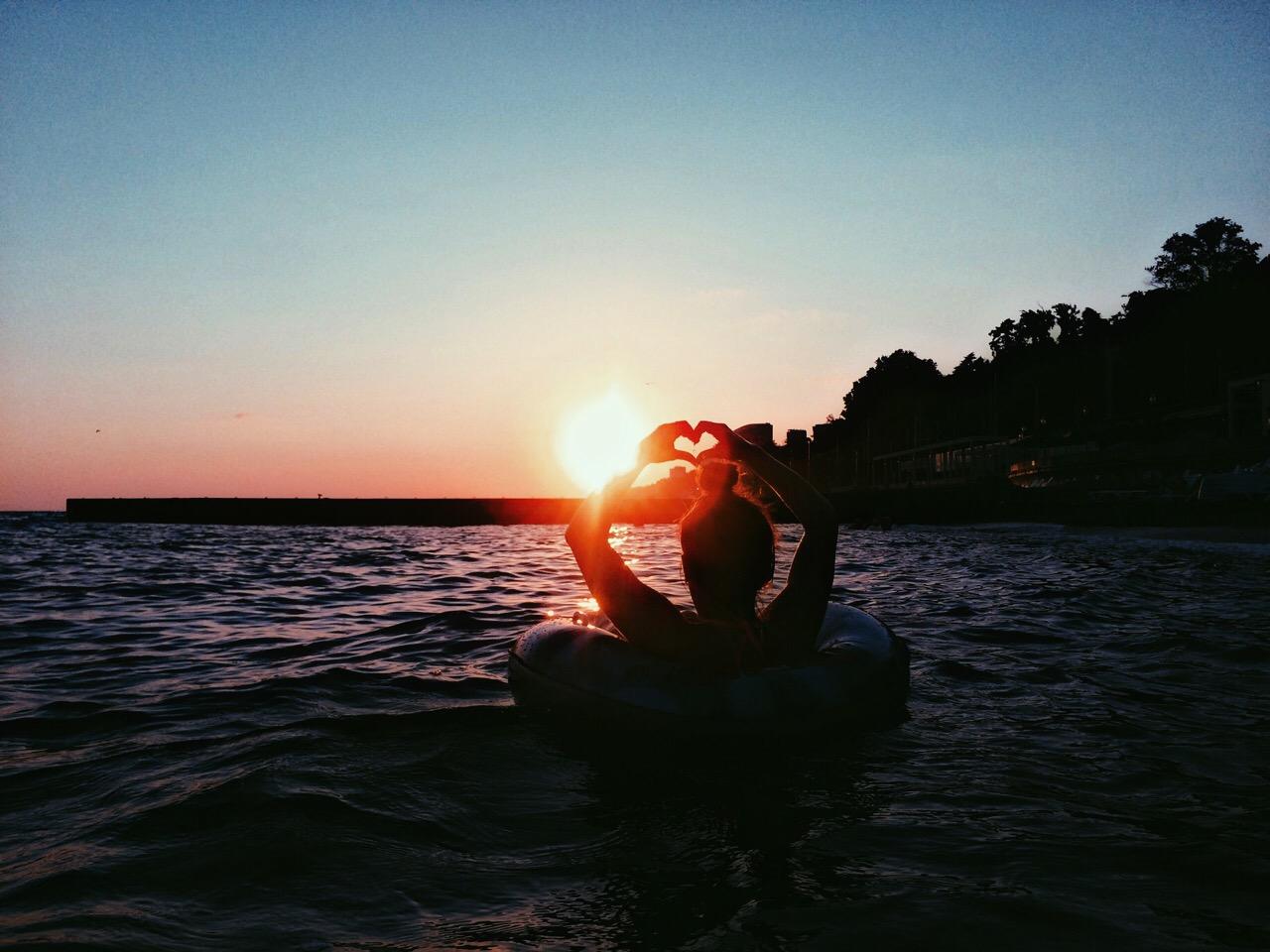 Ловлю закат... сердцем.:)