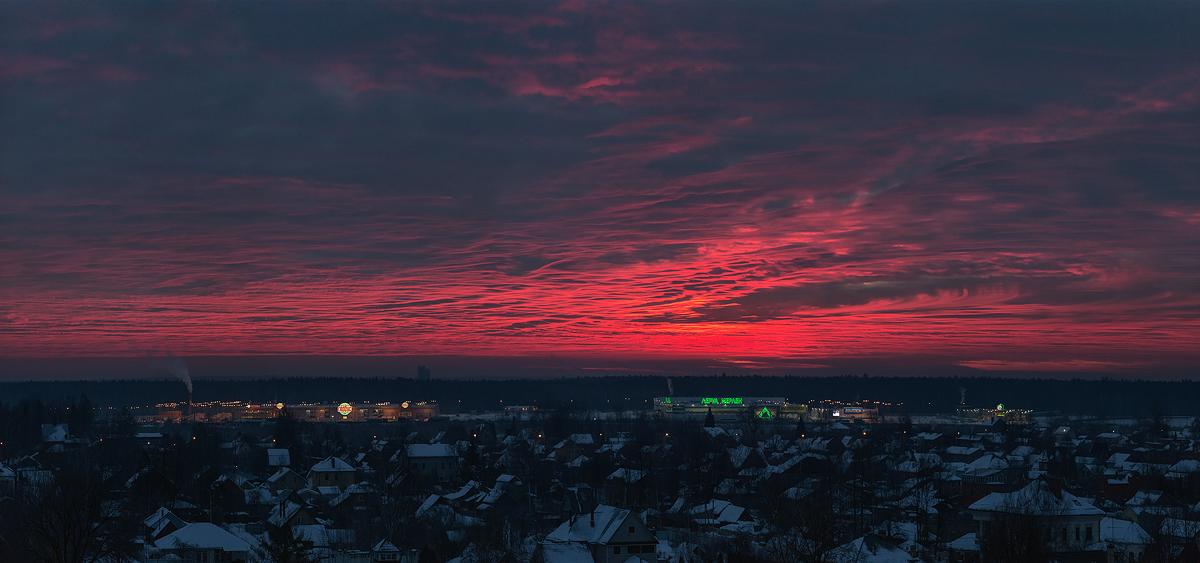 Рассвет в Пушкино 3 февраля 2017