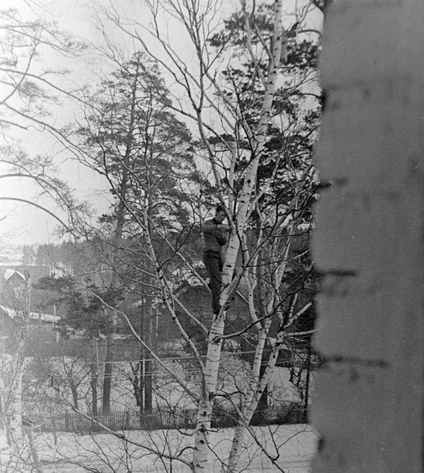 Вид на 1-й Серебрянский проезд и на Дрем. 1968 год.