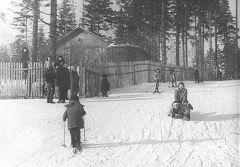 1967, февраль. Дзержинец. Просек от середины оврага до будущей школы №9.