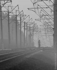 Одинокий железнодорожник
