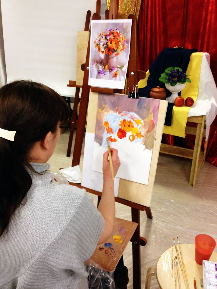 натюрморт ваза с цветами