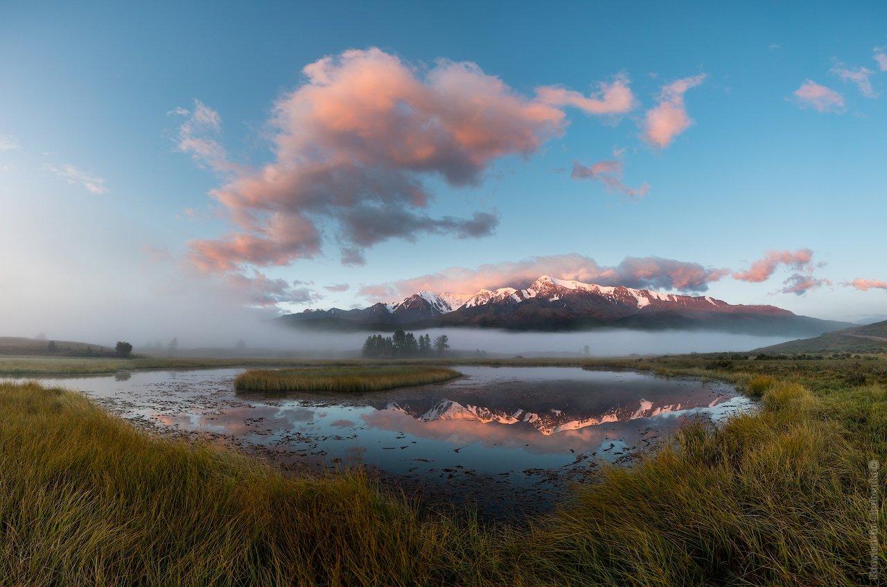 Рассвет на озере Джангысколь