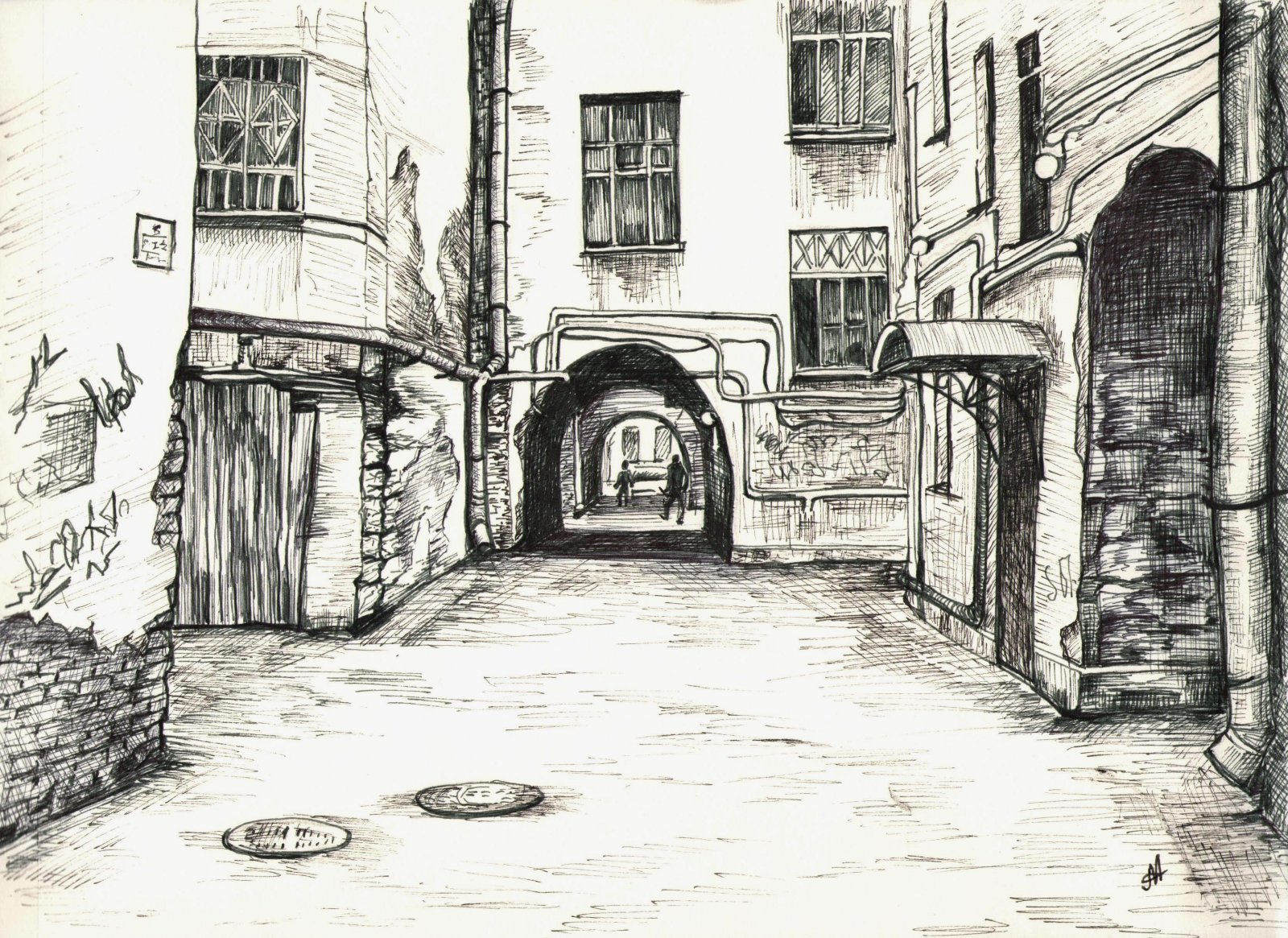 Питерский дворик (линеры)
