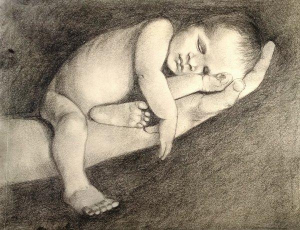 Малыш (простой карандаш)