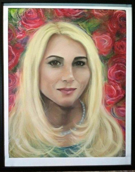 Цветочная фея (пастель)