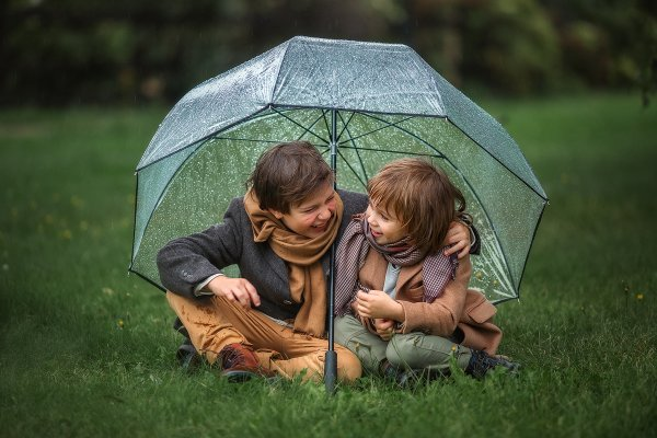Дождь прогулке не помеха