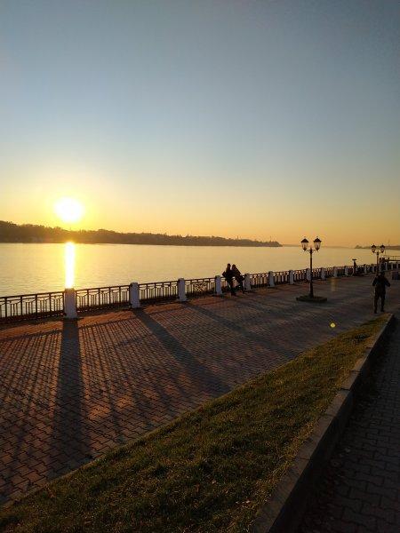 Закат в Костроме
