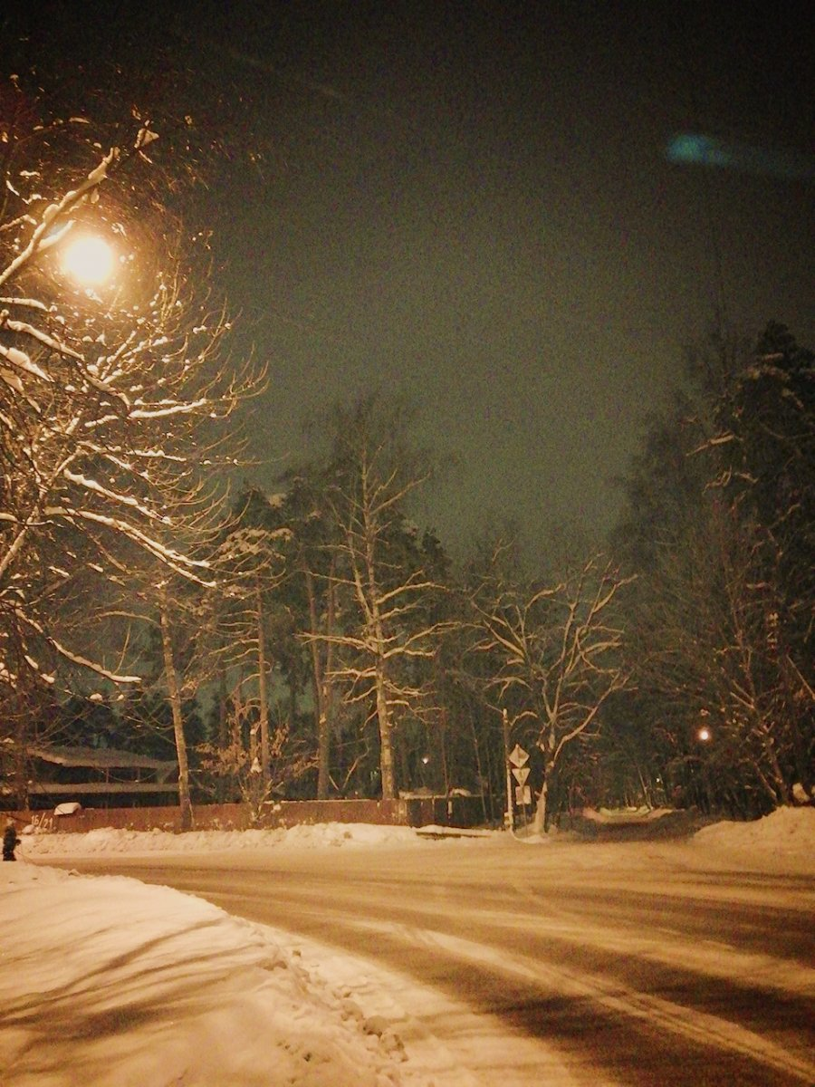 Ночное Пушкино.