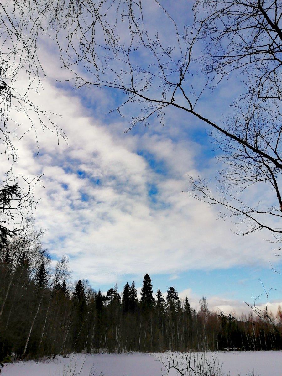 Весенние небесные краски. Рахманово.