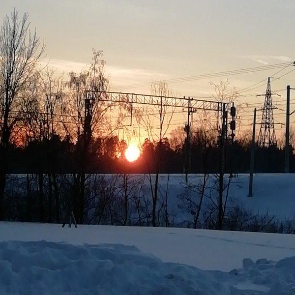 Закат. Январь.