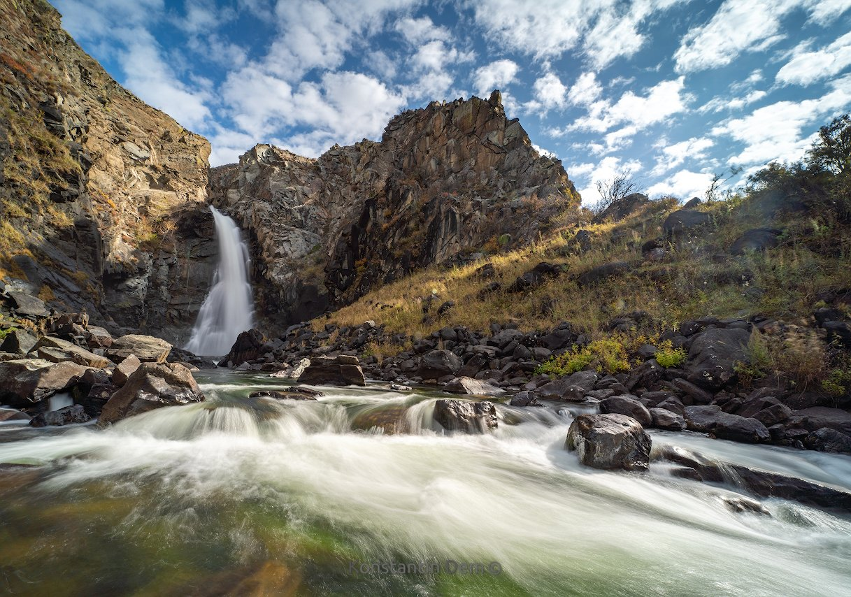 Водопад Куркуре. Алтай