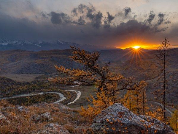 Закат в урочище Таджилу