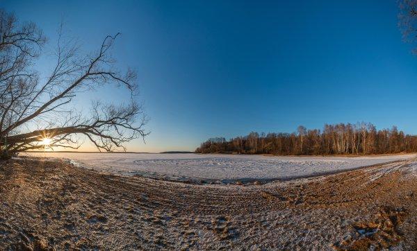 Зима на Пушкинском взморье