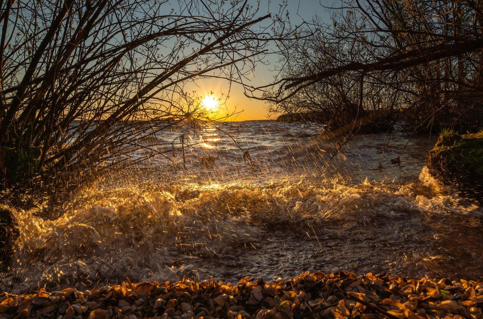 Закат на Пушкинском море