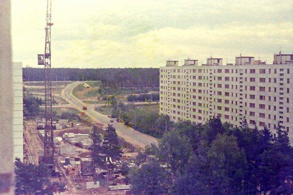 Дзержинец. Вид на Красноармейское шоссе. 1975